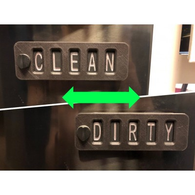 "Dishwasher ""Code"" / Sliding Sign"
