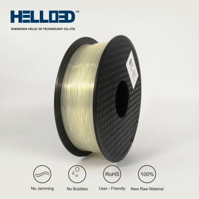 Natural (Transparent) - HELLO3D PREMIUM PLA  Filament 1.75mm - 1KG