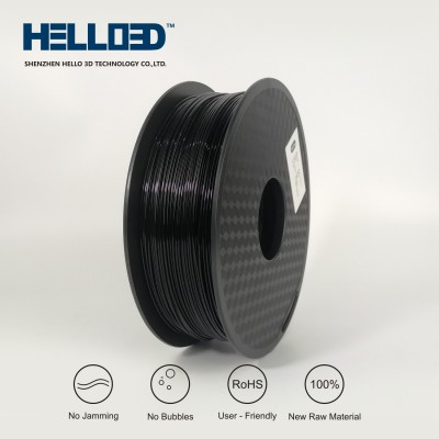 Black - HELLO3D PREMIUM PLA  Filament 1.75mm - 1KG