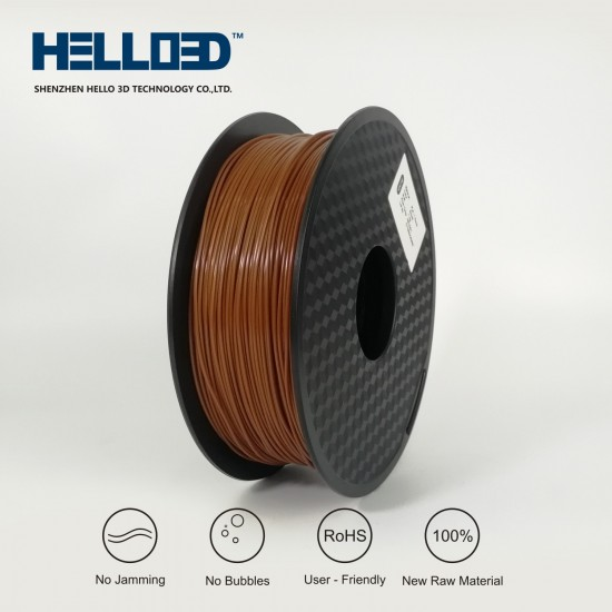 Brown - HELLO3D PREMIUM PLA  Filament 1.75mm - 1KG