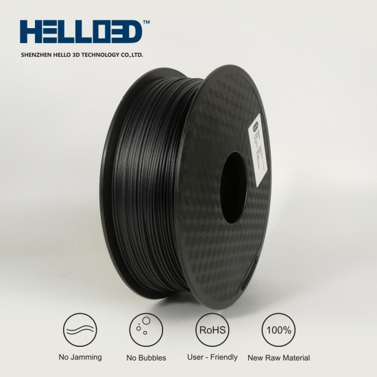 Carbon Fiber - HELLO3D PREMIUM PETG Filament 1.75mm - 1KG