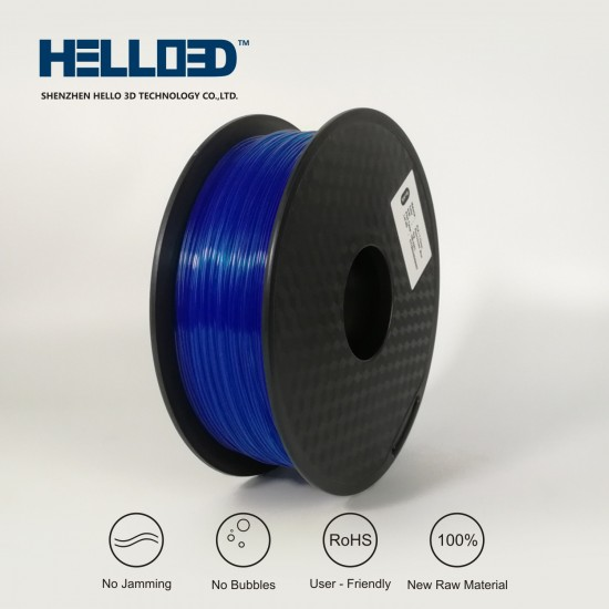 FLUO Blue - HELLO3D PREMIUM PLA  Filament 1.75mm - 1KG