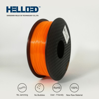 FLUO Orange - HELLO3D PREMIUM PLA  Filament 1.75mm - 1KG