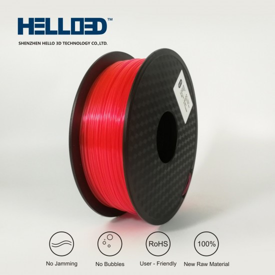 FLUO Red - HELLO3D PREMIUM PLA  Filament 1.75mm - 1KG