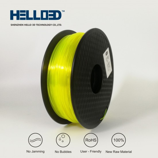 FLUO Yellow - HELLO3D PREMIUM PLA  Filament 1.75mm - 1KG