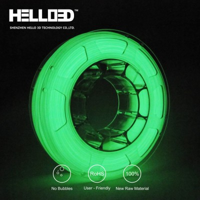 Glow in the dark - Green - HELLO3D PREMIUM PLA  Filament 1.75mm - 1KG