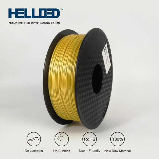 Gold - HELLO3D PREMIUM PLA  Filament 1.75mm - 1KG