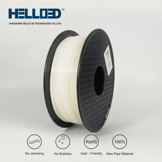 White - HELLO3D PREMIUM HPLA  Filament 1.75mm - 1KG