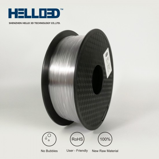 Transparent - HELLO3D PREMIUM PETG Filament 1.75mm - 1KG