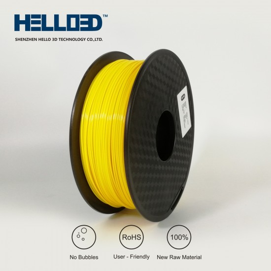 Yellow - HELLO3D PREMIUM PETG Filament 1.75mm - 1KG