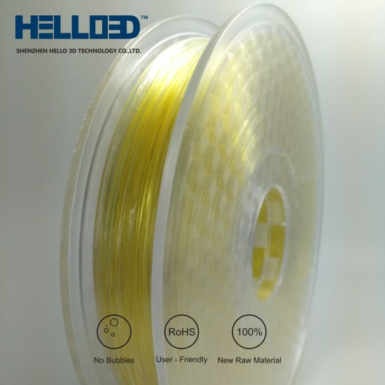 PVA (soluble) - HELLO3D PREMIUM PLA  Filament 1.75mm - .5KG