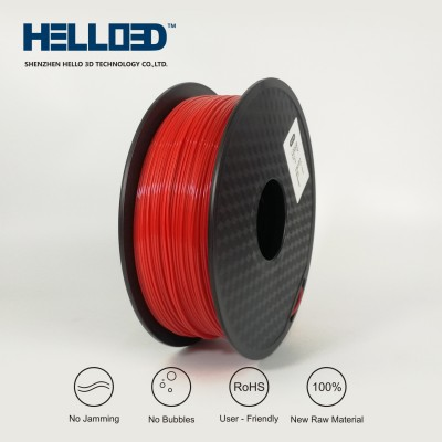 Red - HELLO3D PREMIUM PLA  Filament 1.75mm - 1KG