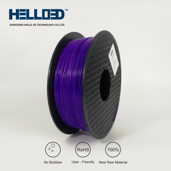 Purple - HELLO3D PREMIUM TPU Filament 1.75mm - 0.8KG