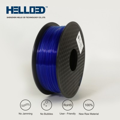 Transparent - Blue - HELLO3D PREMIUM PLA  Filament 1.75mm - 1KG