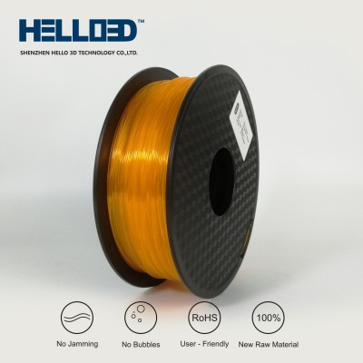 Transparent - Orange - HELLO3D PREMIUM PLA  Filament 1.75mm - 1KG