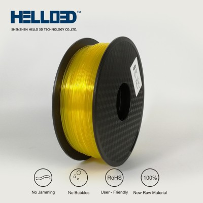 Transparent - Yellow - HELLO3D PREMIUM PLA  Filament 1.75mm - 1KG