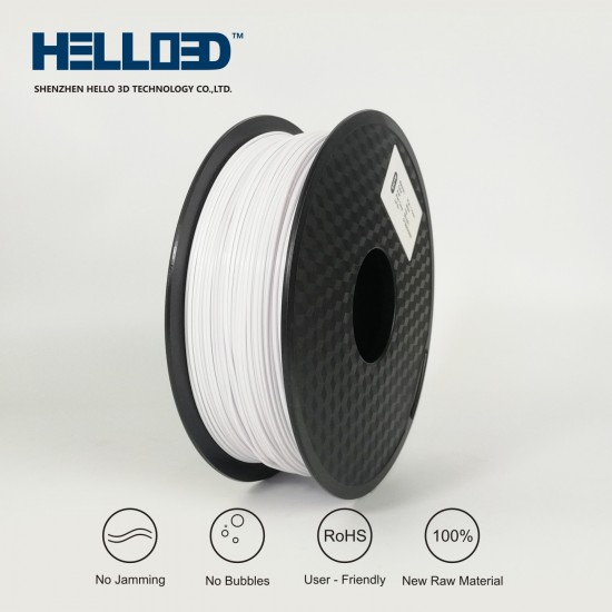 Paper White - HELLO3D PREMIUM PLA  Filament 1.75mm - 1KG