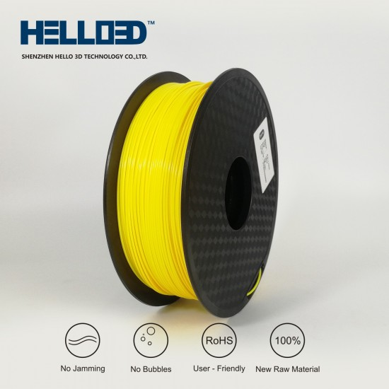 Yellow - HELLO3D PREMIUM PLA  Filament 1.75mm - 1KG
