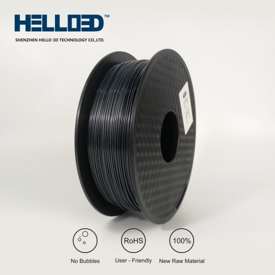 Black - HELLO3D PREMIUM ABS Filament 1.75mm - 1KG