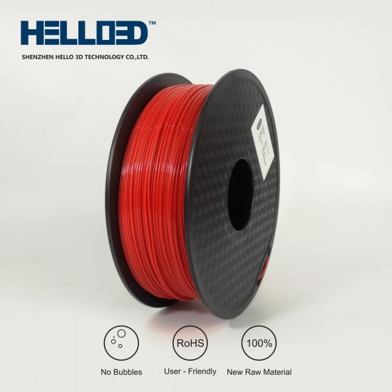 Red - HELLO3D PREMIUM ABS Filament 1.75mm - 1KG