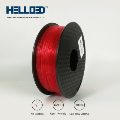 Transparent Rouge - HELLO3D PREMIUM ABS Filament 1.75mm - 1KG