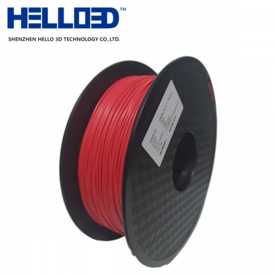 MATTE - Red - HELLO3D PREMIUM PLA  Filament 1.75mm - 1KG