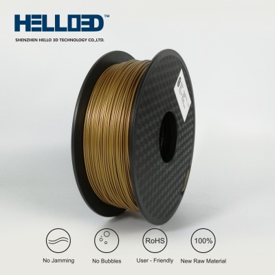 Metal-like - Brass - HELLO3D PREMIUM PLA  Filament 1.75mm - 1KG