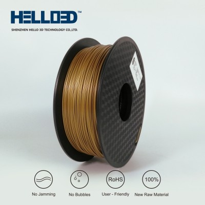 Metal-like - Copper - HELLO3D PREMIUM PLA  Filament 1.75mm - 1KG