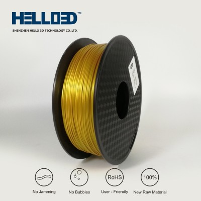 Metal-like - Real Gold like- HELLO3D PREMIUM PLA  Filament 1.75mm - 1KG