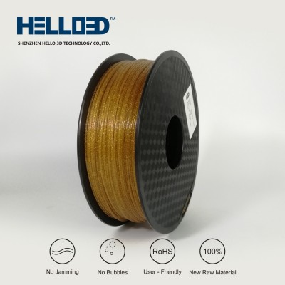 Shinning - Gold - HELLO3D PREMIUM PLA  Filament 1.75mm - 1KG
