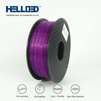 Shinning - Purple - HELLO3D PREMIUM PLA  Filament 1.75mm - 1KG