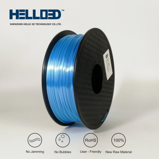 Silk-like - Sky Blue - HELLO3D PREMIUM PLA  Filament 1.75mm - 1KG
