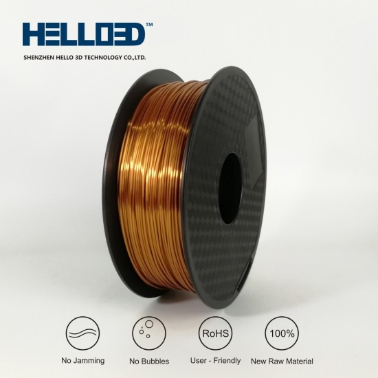 Silk-like - Copper - HELLO3D PREMIUM PLA  Filament 1.75mm - 1KG