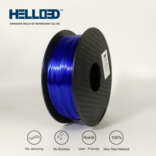 Silk-like - Dark Blue - HELLO3D PREMIUM PLA  Filament 1.75mm - 1KG