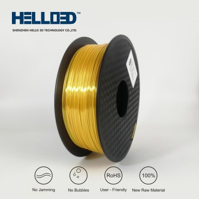 Silk-like - Gold - HELLO3D PREMIUM PLA  Filament 1.75mm - 1KG