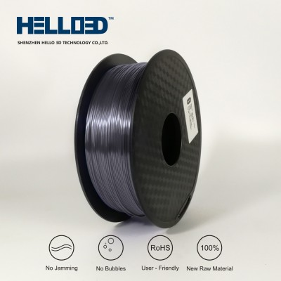 Silk-like - Silver-Grey - HELLO3D PREMIUM PLA  Filament 1.75mm - 1KG