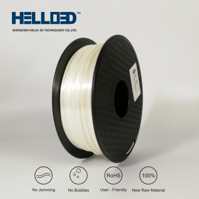 Silk-like - White - HELLO3D PREMIUM PLA  Filament 1.75mm - 1KG